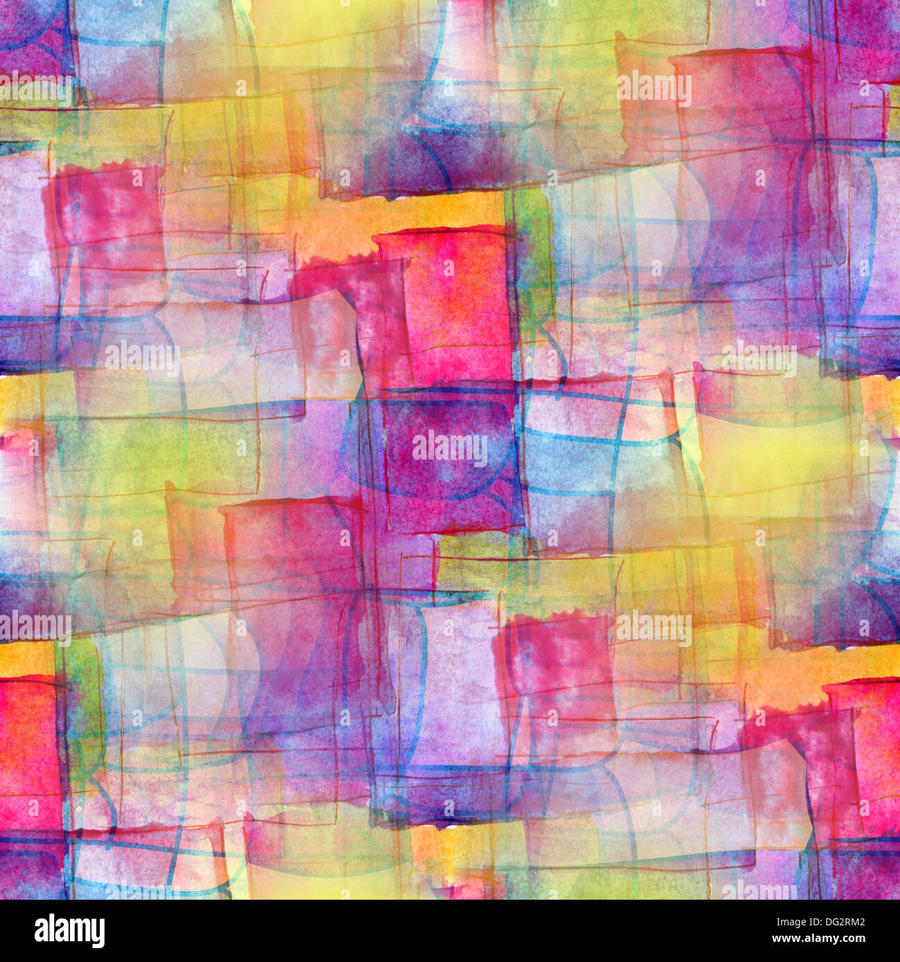 Artist Seamless Blue Cubism Abstract Art Texture Watercolor
