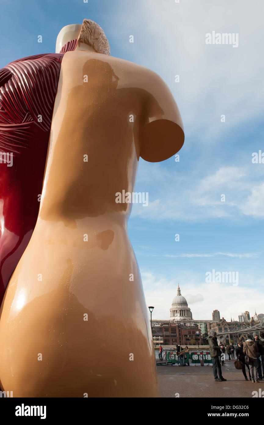 Damien Hirst's Hymn anatomical sculpture, Tate Modern, London, UK - Stock Image