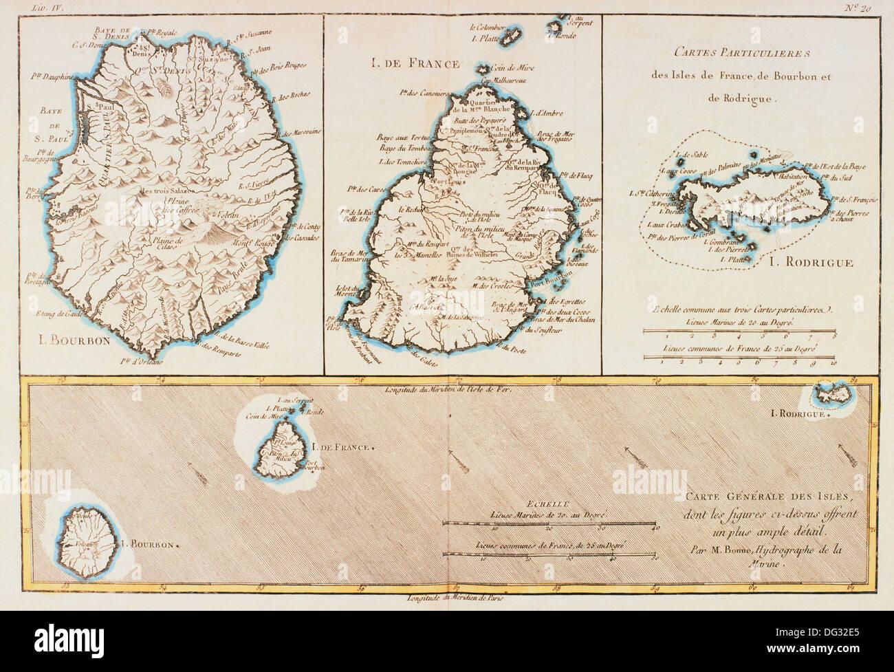 Indian Ocean Map Rodrigues Stock Photos Indian Ocean Map