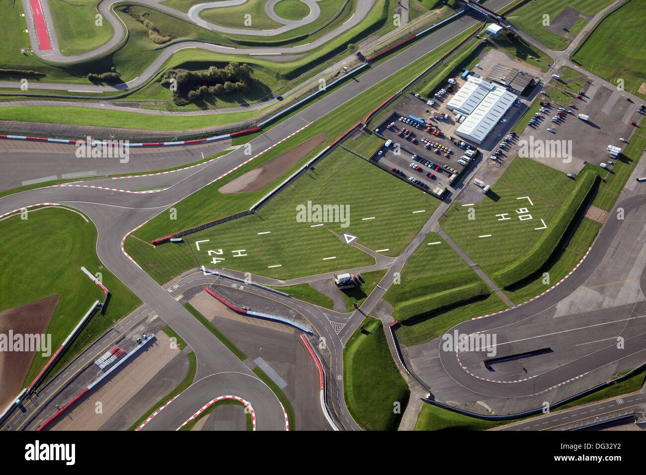 Silverstone Racing Circuit In Northamptonshire Stock Photos ...