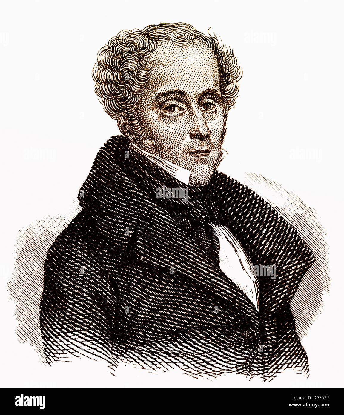 François-René, Vicomte de Chateaubriand, 1768 - 1848, a French writer, politician and diplomat - Stock Image