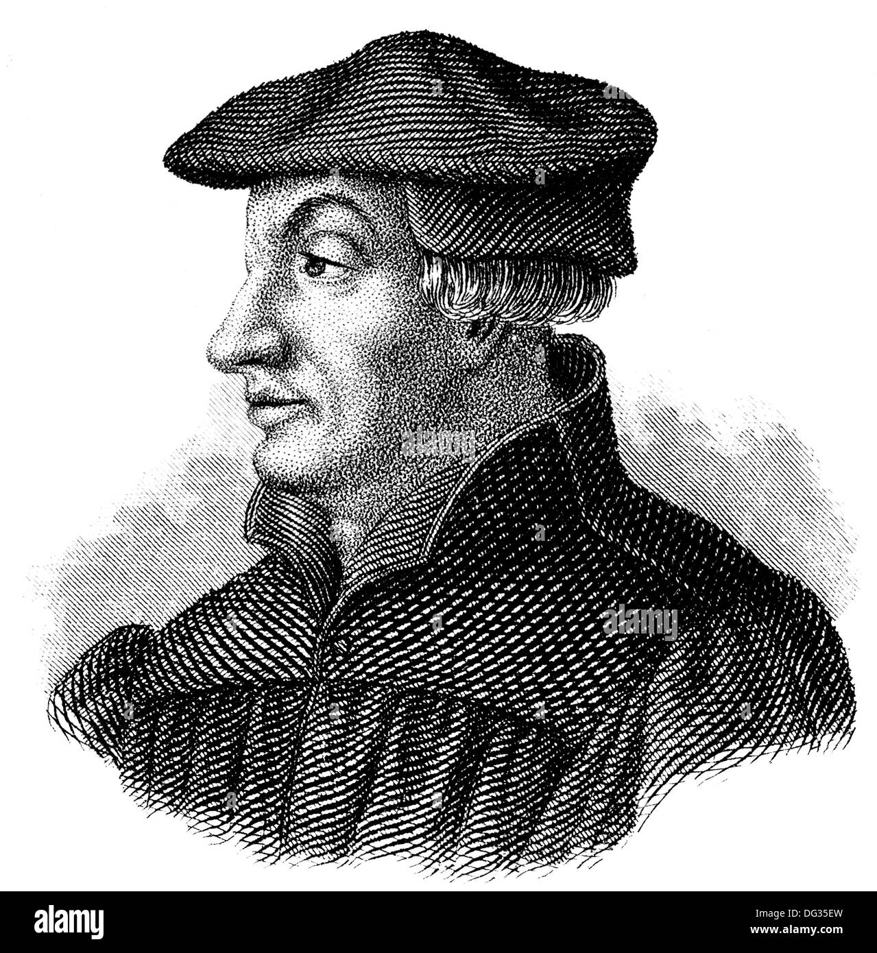 Ulrich Zwingli, 1484 - 1531, a Swiss theologian and reformer of Zurich - Stock Image