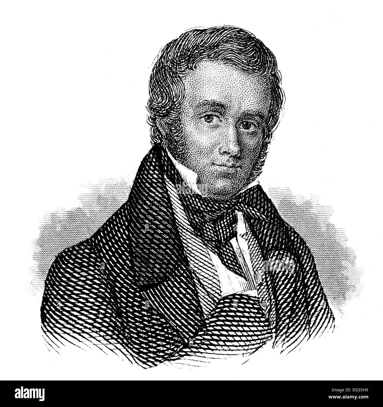 Victor Cousin, 1792-1867, a French philosopher, Scottish Common Sense Realism - Stock Image