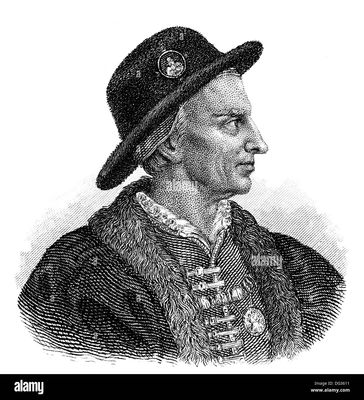 Louis XI, 1423-1483, called the Prudent, King of France, Stock Photo