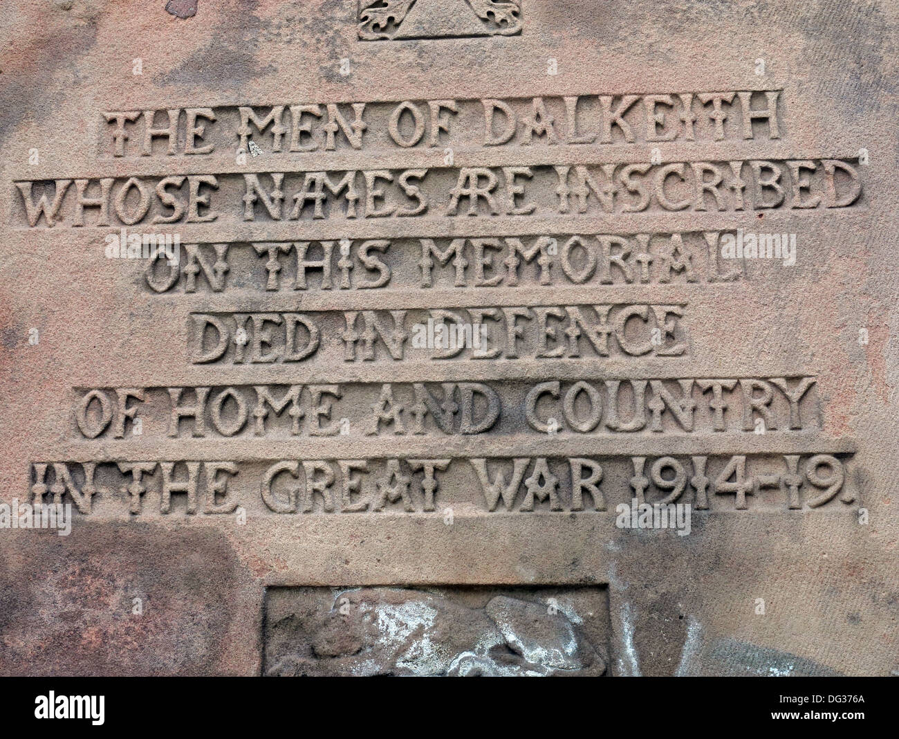 The Dalkeith park war memorial Midlothian - Stock Image