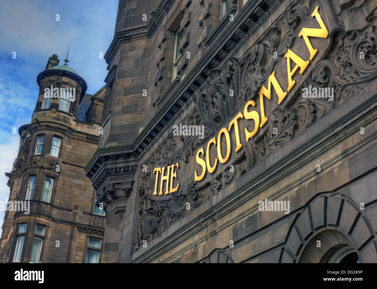 The old Scotsman Newspaper building Northbridge Edinburgh Scotland UK - Stock Image