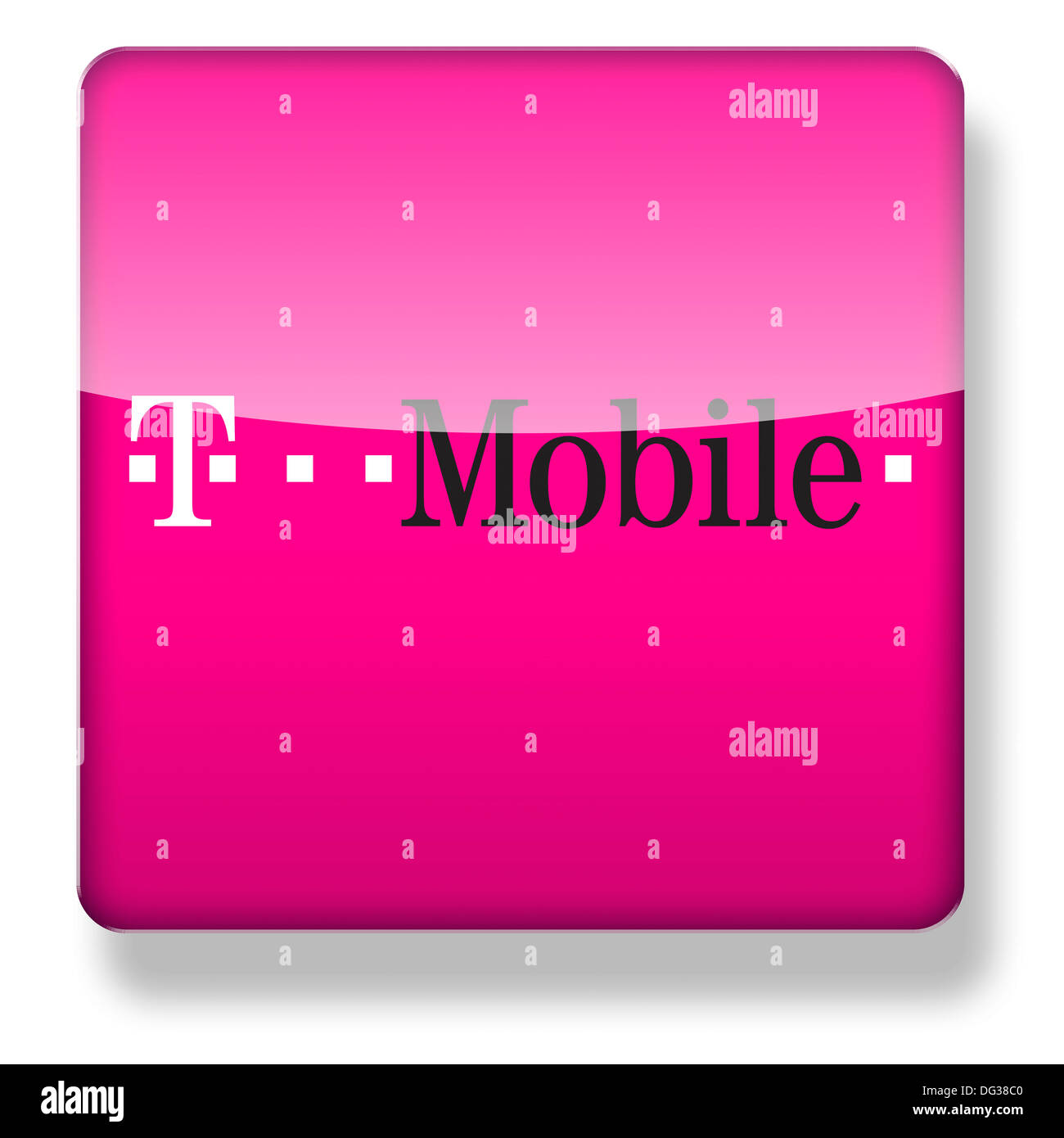 T Mobile Logo As An App Icon Clipping Path Included Stock Photo