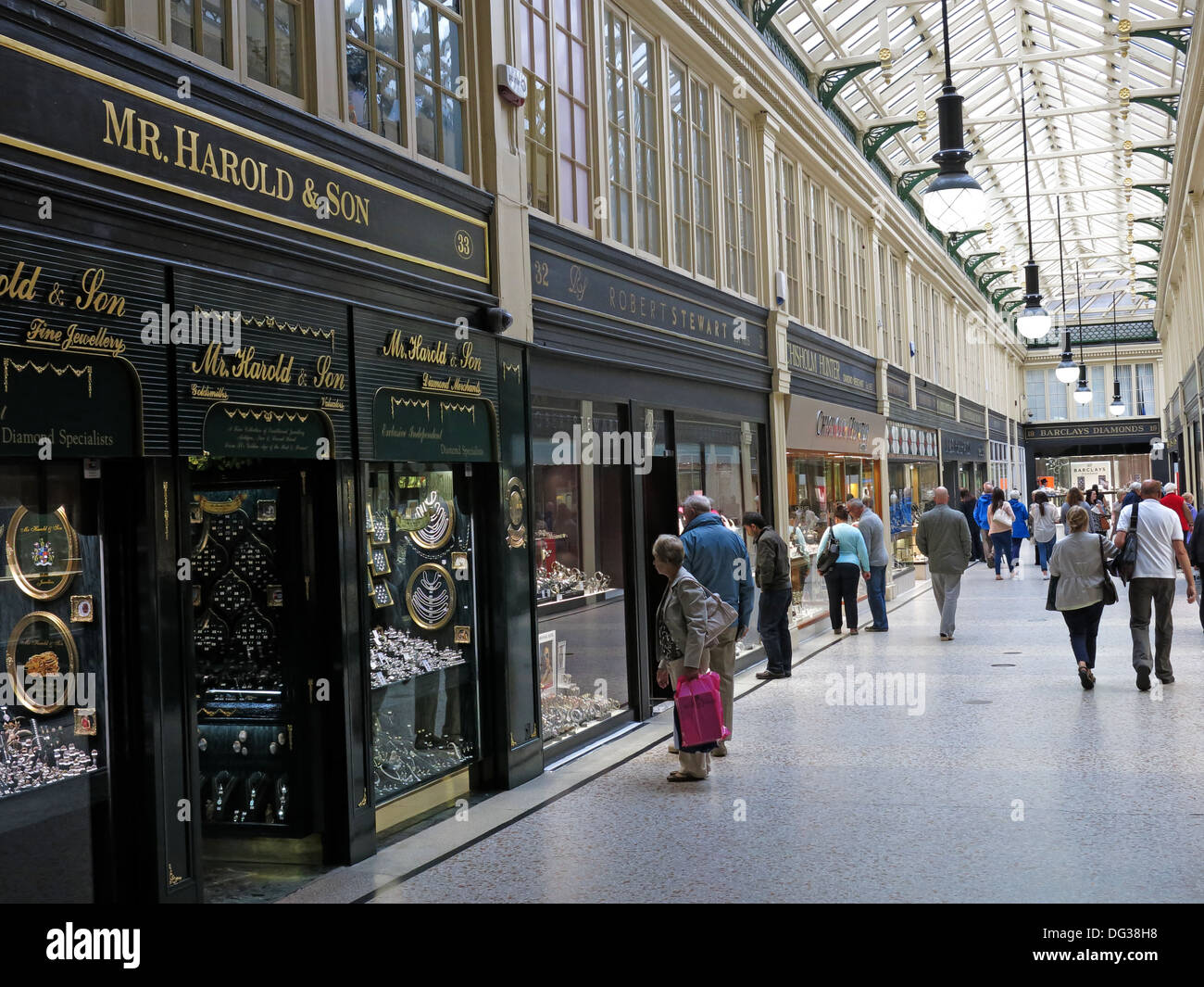 Mr Harold & Sons shop in the Argyll Arcade Victorian Glasgow shopping mall , Scotland, UK Stock Photo