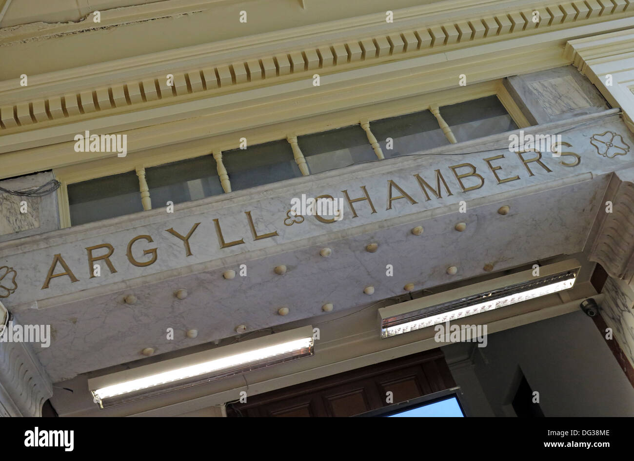 Argyll Chambers offices building & arcade Glasgow city Scotland UK - Stock Image