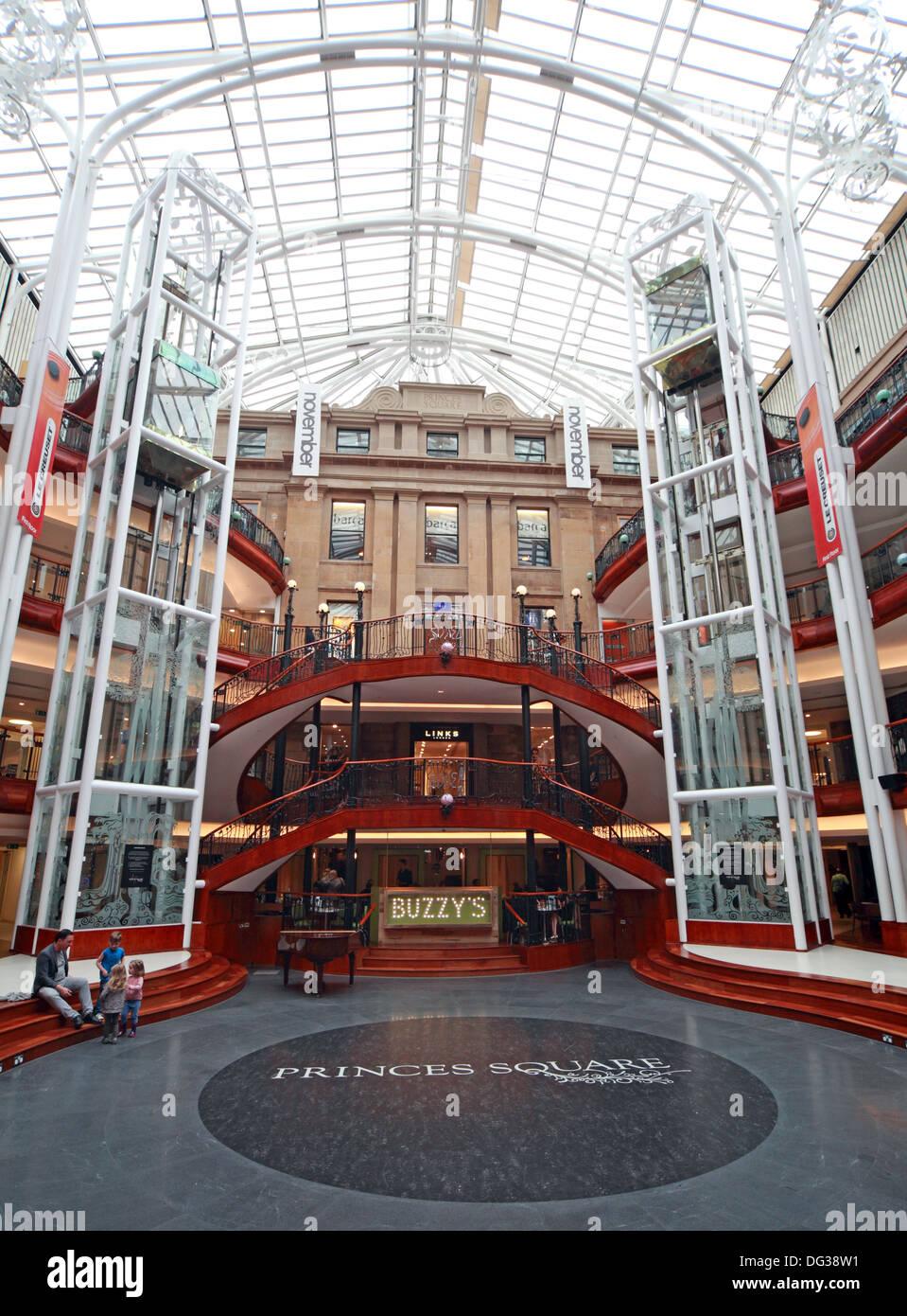 Buzzys Princes Square Shopping Centre Interior Glasgow City Centre Strathclyde Scotland UK - Stock Image