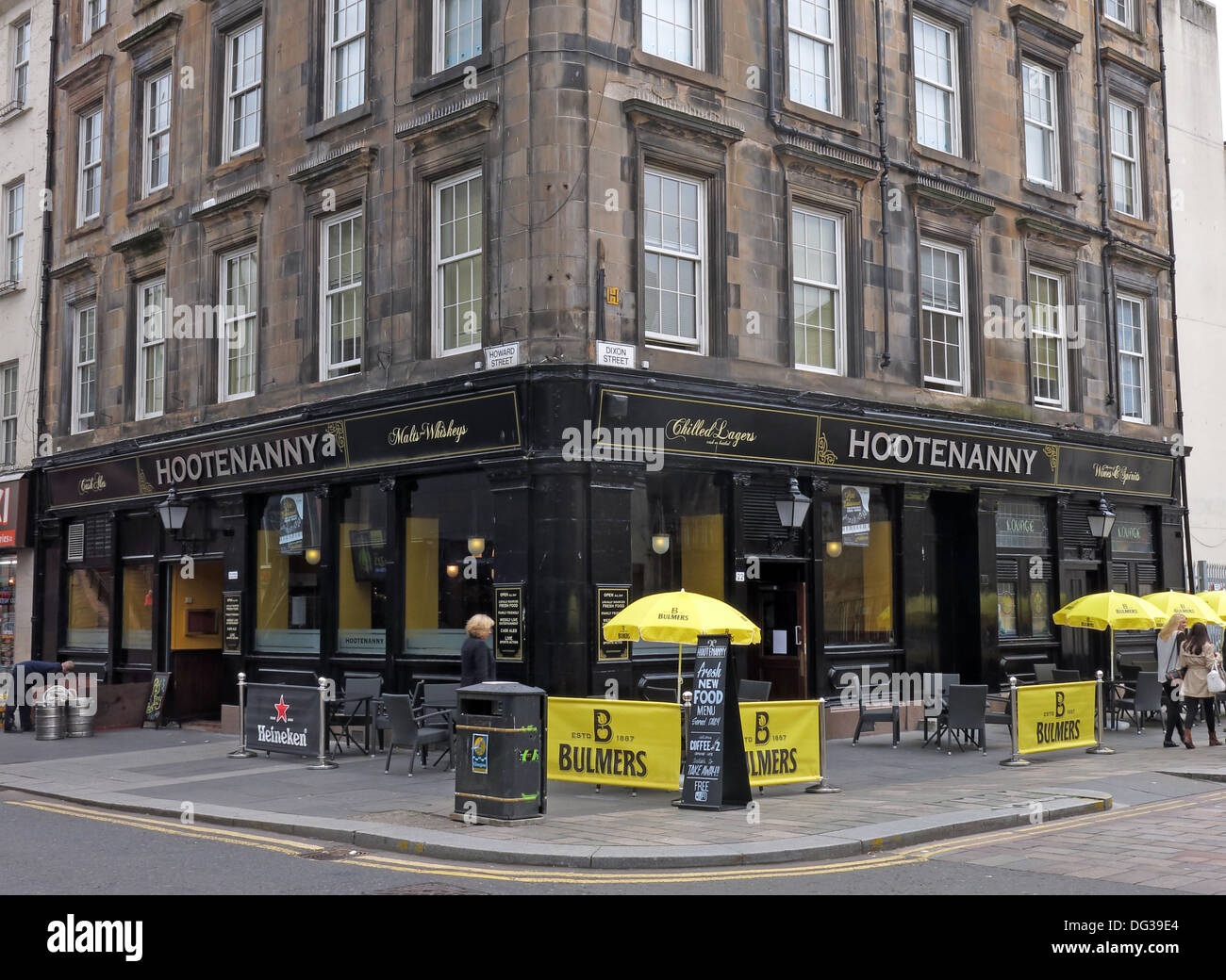 Hootenanny Bar, Howard st, Glasgow, Scotland, UK Stock Photo