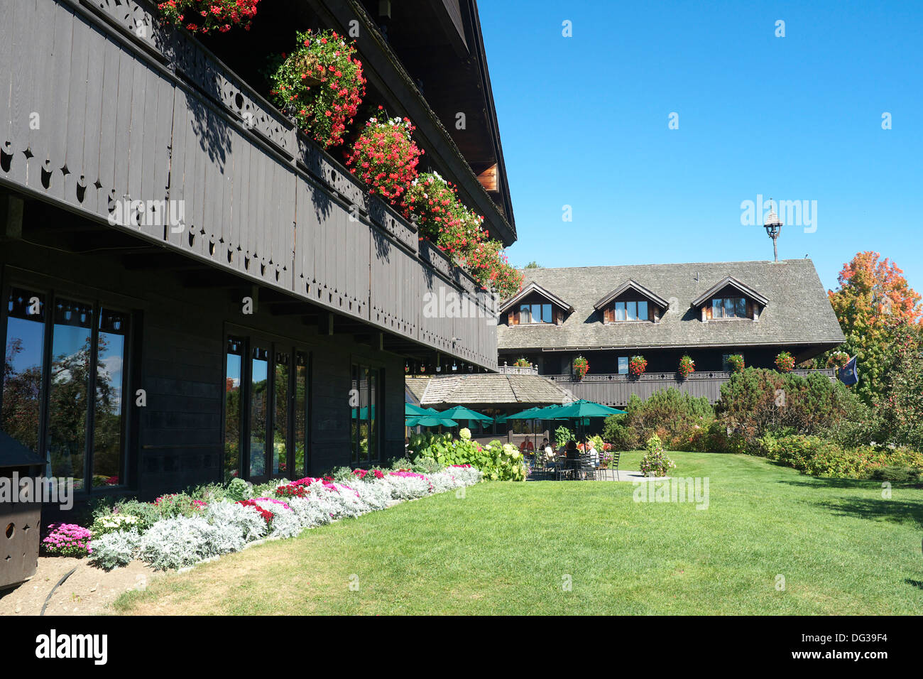 Trapp Family Lodge in Stowe, Vermont - Stock Image