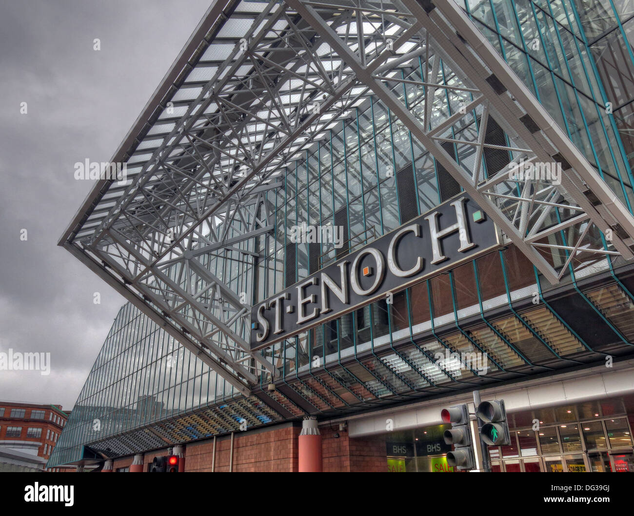 St Enoch Shopping retail shopping centre Glasgow - Stock Image
