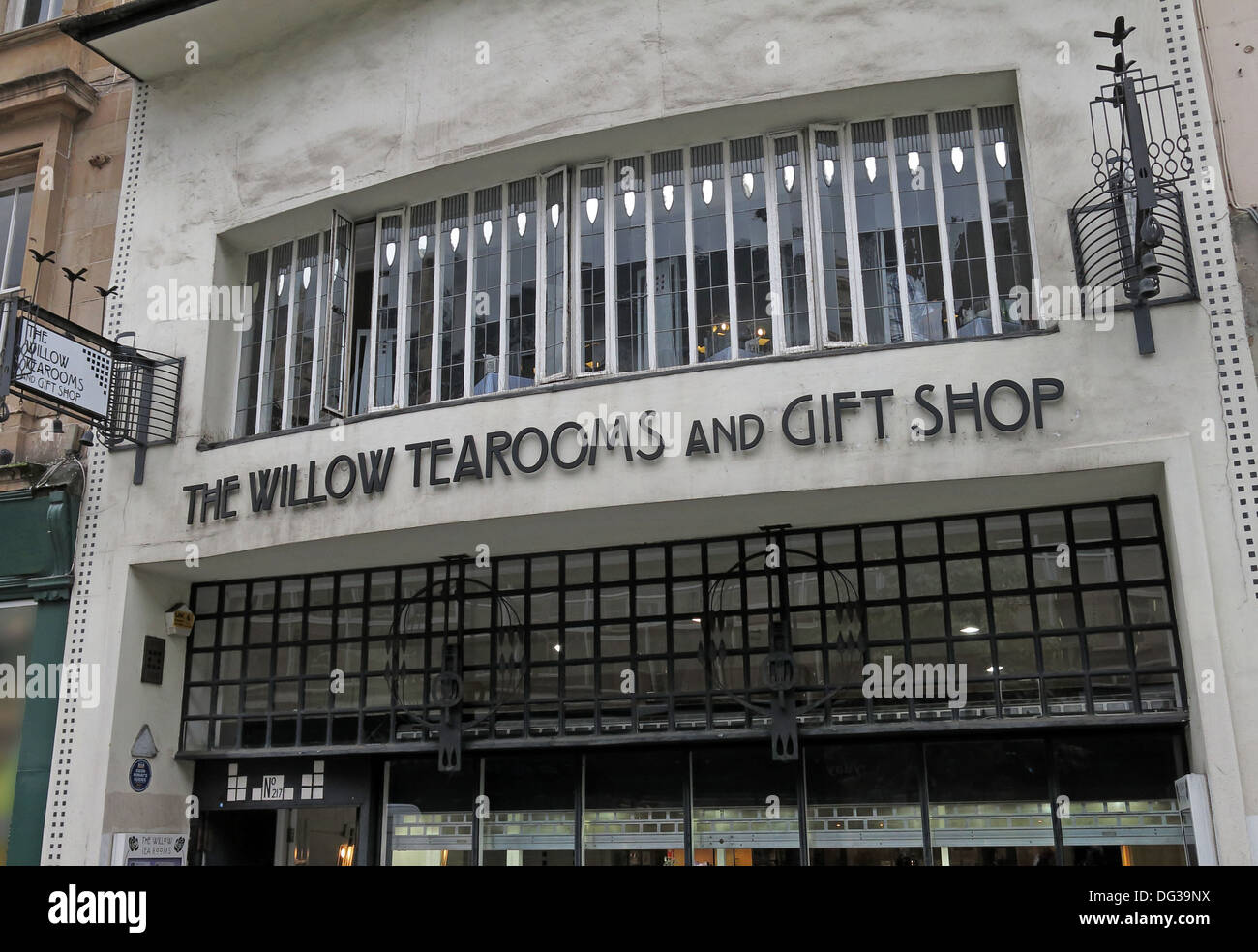 The Willow Tearooms and Gift Shop , Glasgow, Scotland UK - Stock Image