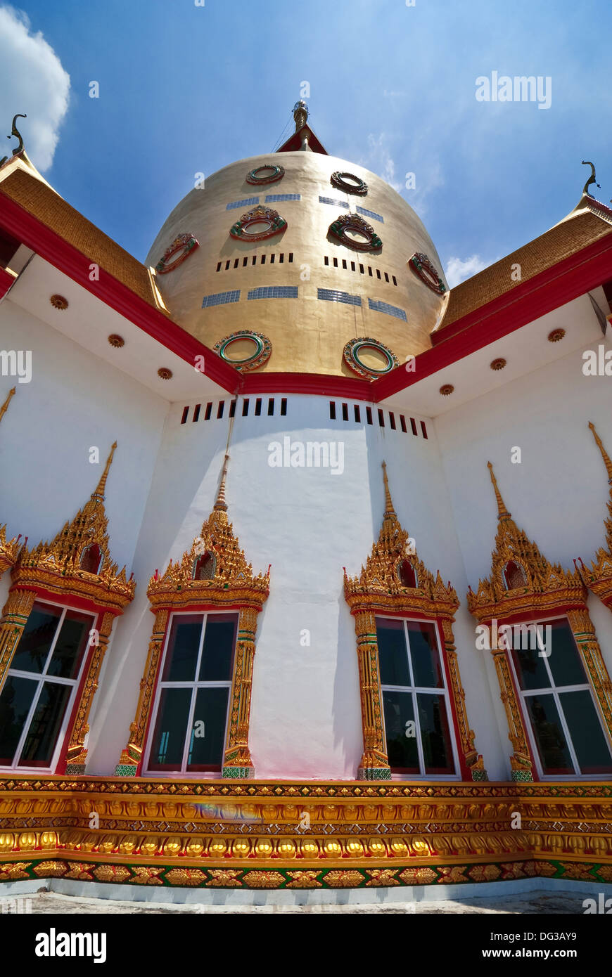 Main Chapel of Wat Prong-Are-Gard in Chachoengsao Province,Thailand - Stock Image
