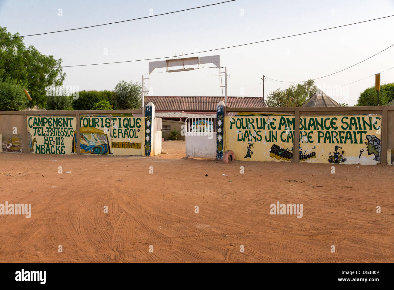 Senegal, Mbacke. Le Baol Campement, offering Simple Bungalows for Lodging near Touba, which has no hotels. - Stock Image