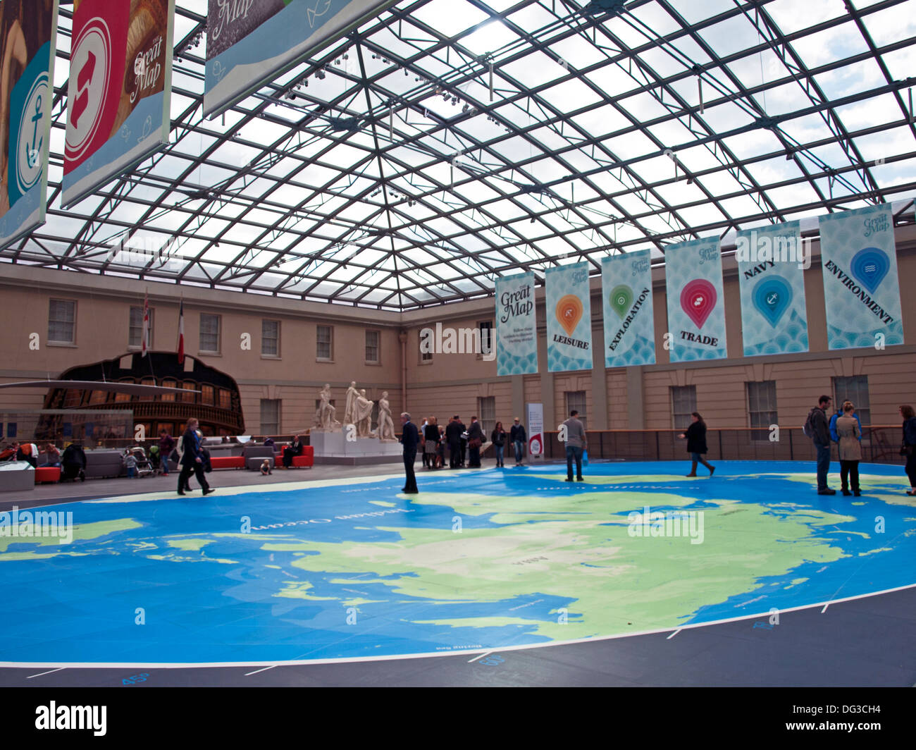 Maritime museum greenwich map stock photos maritime museum the great map at the national maritime museum greenwich london england united gumiabroncs