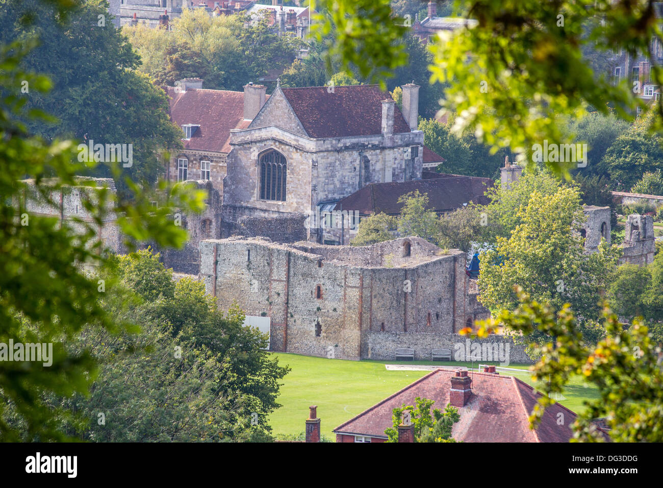 Wolvesey Castle, Winchester Stock Photo