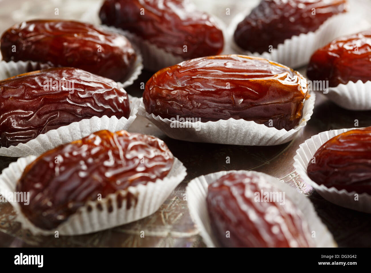 Medjoul or Medjool dates - Stock Image