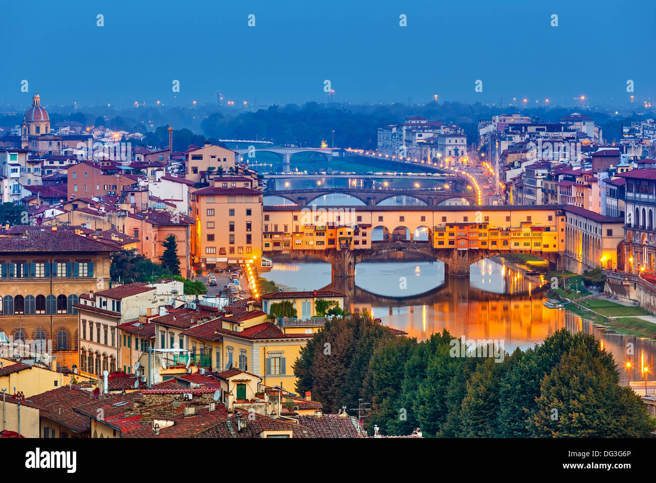 Bridges in Florence - Stock Image
