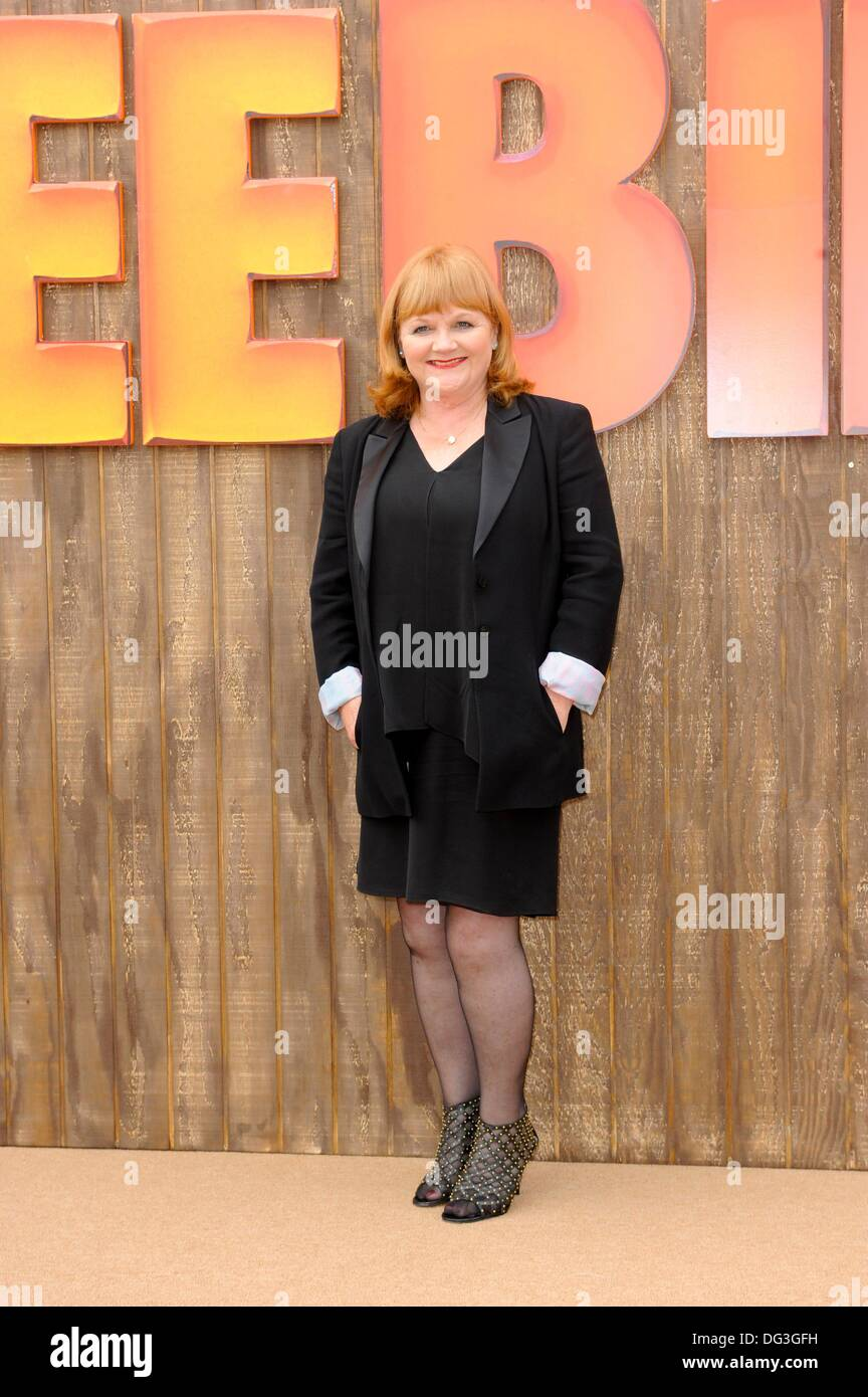 Los Angeles, CA, USA. 13th Oct, 2013. Lesley Nicol at arrivals for FREE BIRDS Premiere, Regency Village Theatre in Westwood, Los Angeles, CA October 13, 2013. Credit:  Elizabeth Goodenough/Everett Collection/Alamy Live News - Stock Image