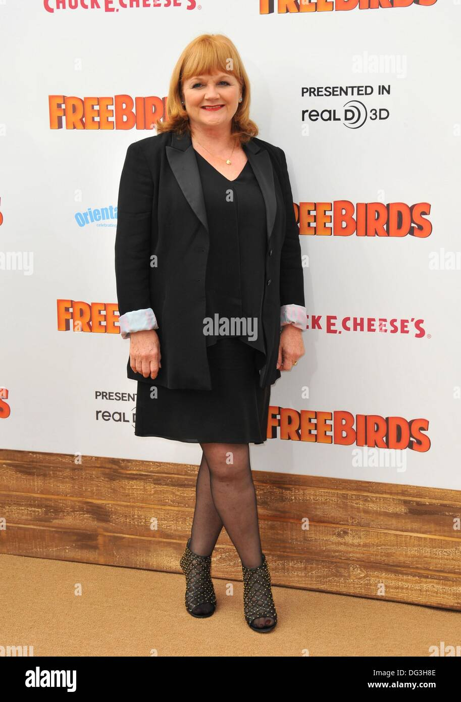 Los Angeles, CA, USA. 13th Oct, 2013. Lesley Nicol at arrivals for FREE BIRDS Premiere, Regency Village Theatre in Westwood, Los Angeles, CA October 13, 2013. Credit:  Dee Cercone/Everett Collection/Alamy Live News - Stock Image