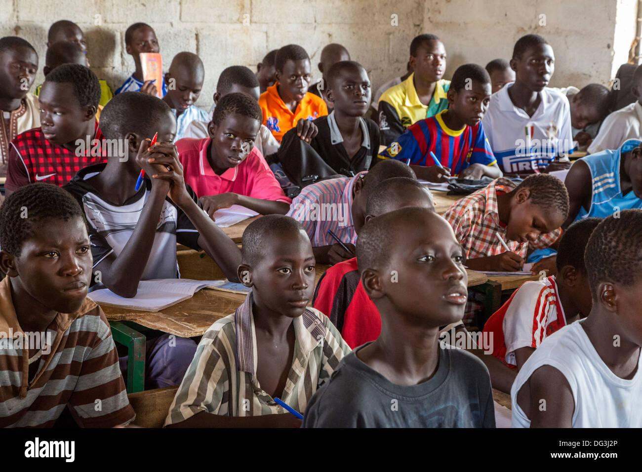 Senegal, Touba. Students At Al-Azhar Madrasa, A School For