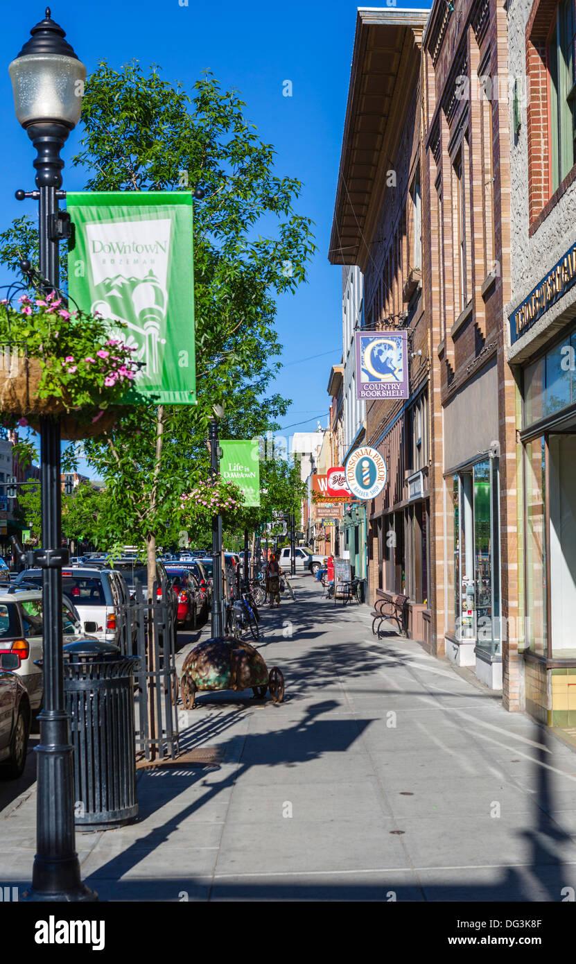 Shopping In Bozeman Mt >> Shops On Main Street In Downtown Bozeman Montana Usa Stock