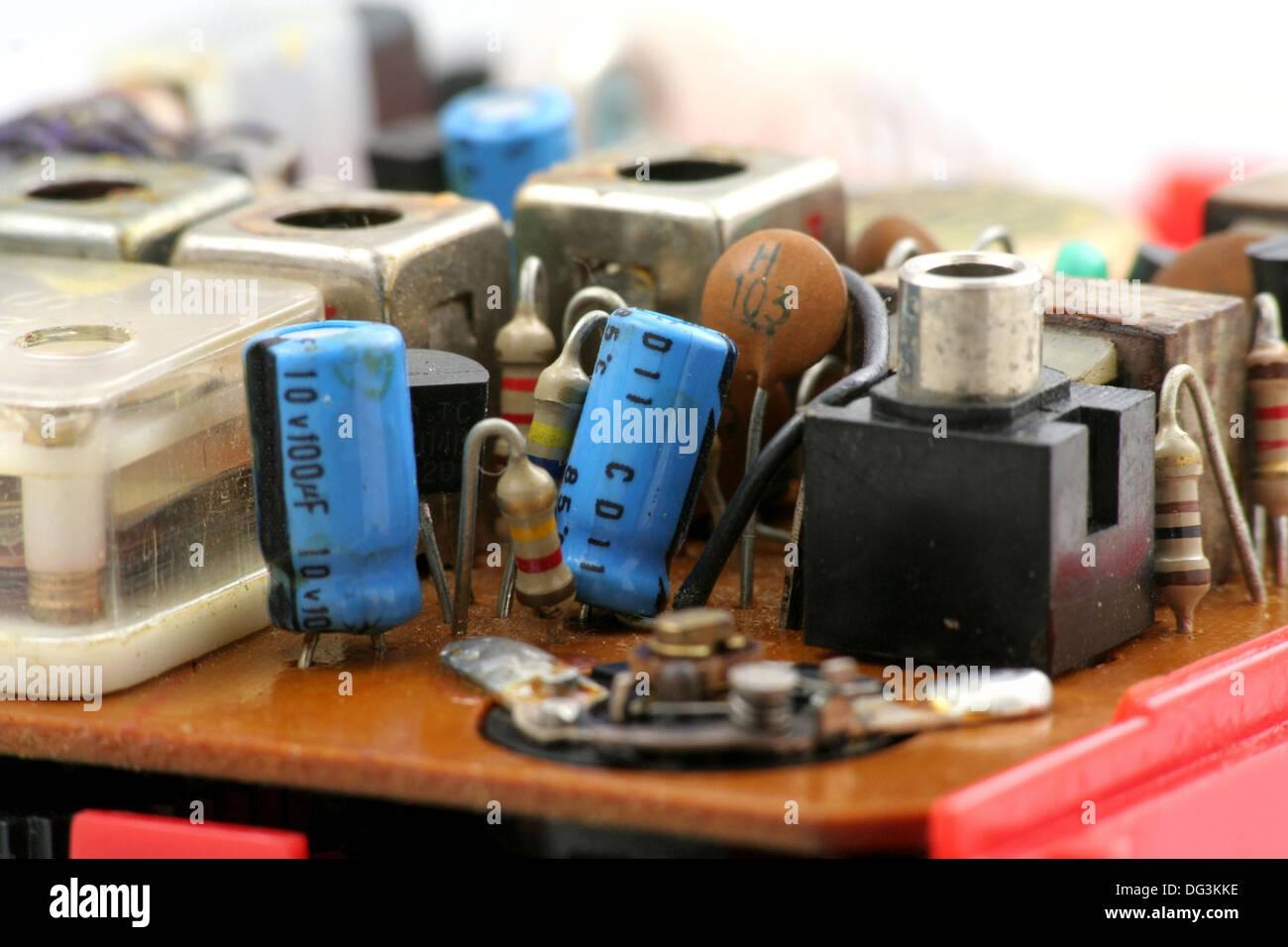 Transistor Radio Set Stock Photos The In A Century Of Electronics Close Up Shot Image