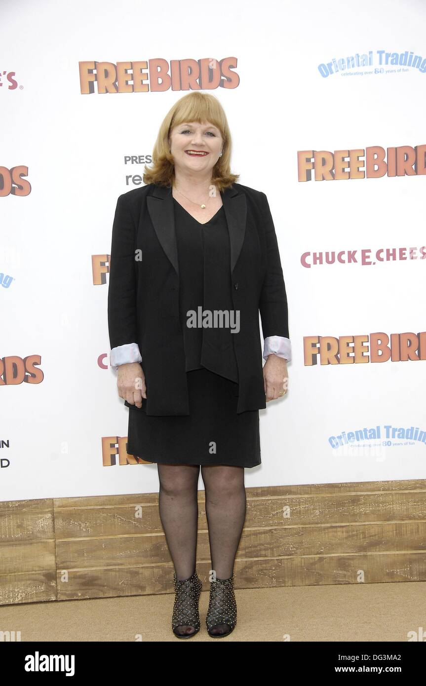 Los Angeles, CA, USA. 13th Oct, 2013. Lesley Nicol at arrivals for FREE BIRDS Premiere, Regency Village Theatre in Westwood, Los Angeles, CA October 13, 2013. Credit:  Michael Germana/Everett Collection/Alamy Live News - Stock Image