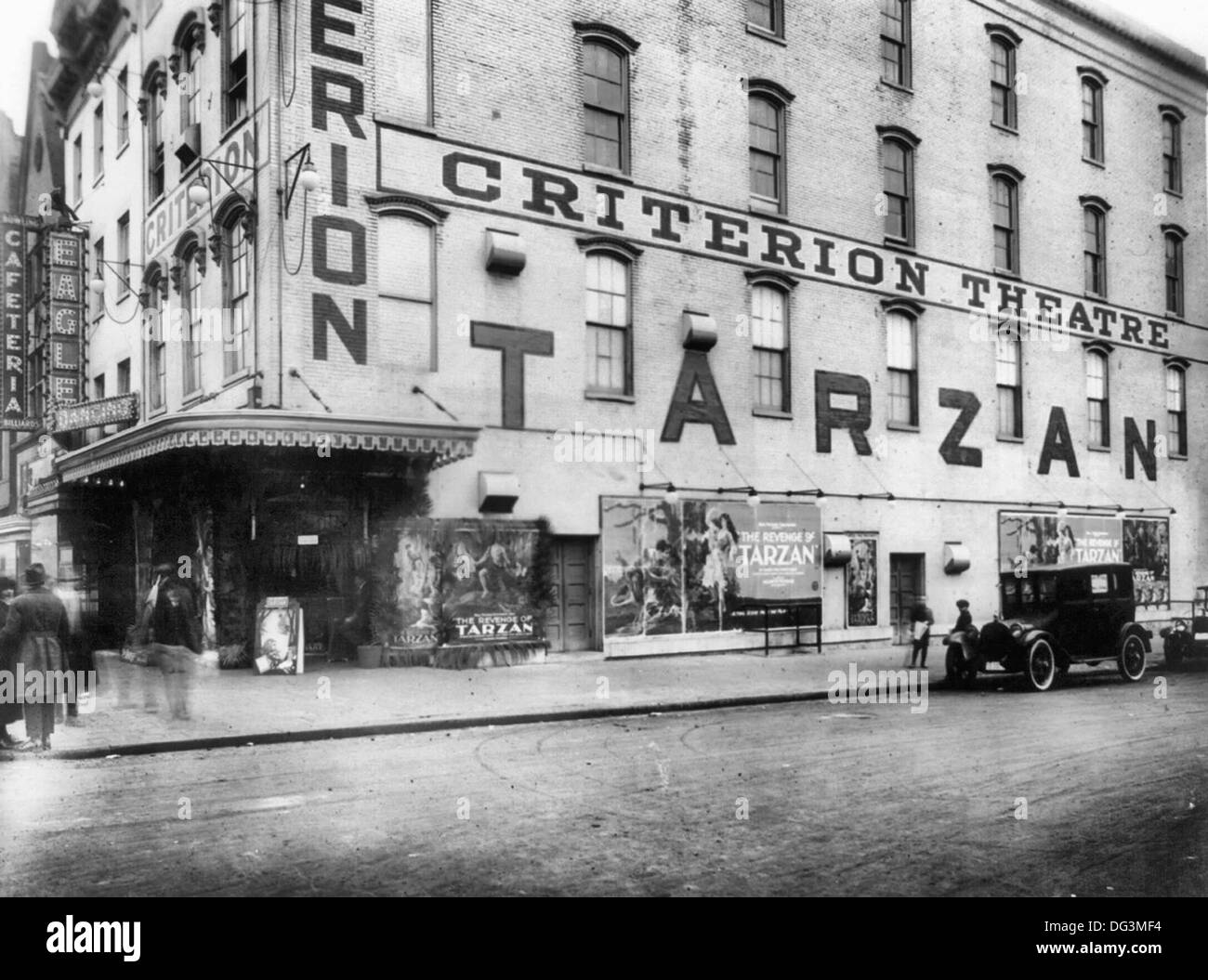 Criterion Theater, Washington, D.C.; showing 'The Revenge of Tarzan', circa 1920 - Stock Image