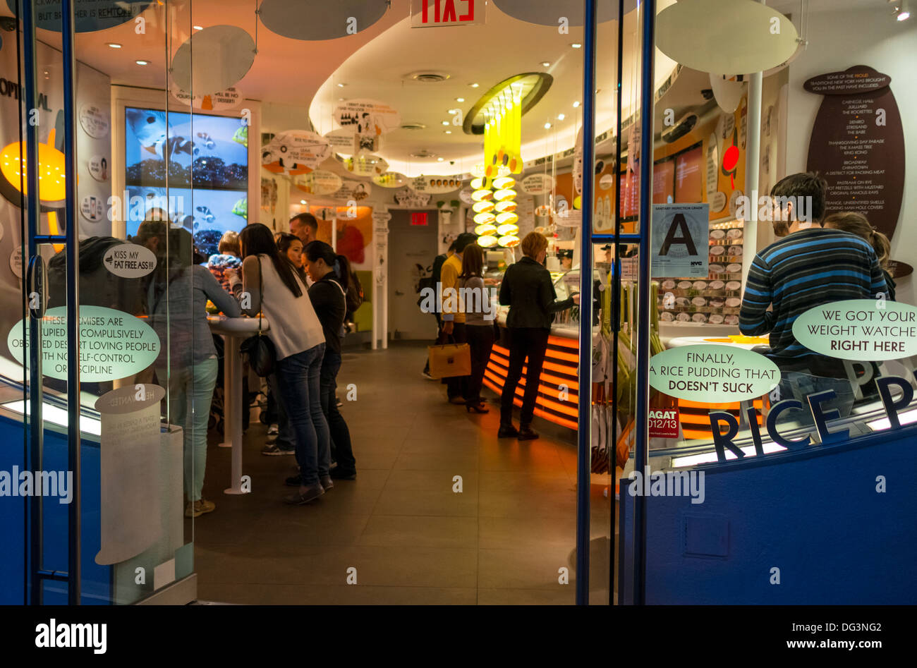 Rice to Riches in Nolita in New York City - Stock Image