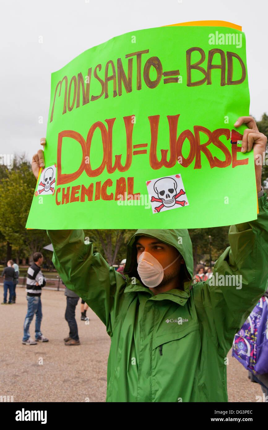 Anti-Monsanto protest - Washington, DC USA - Stock Image