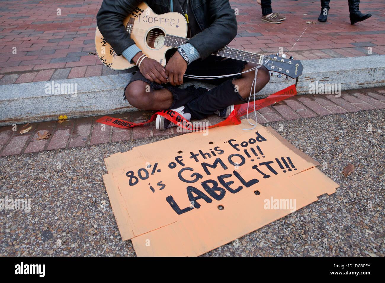 Anti-Monsanto protest - Washington, DC USA Stock Photo
