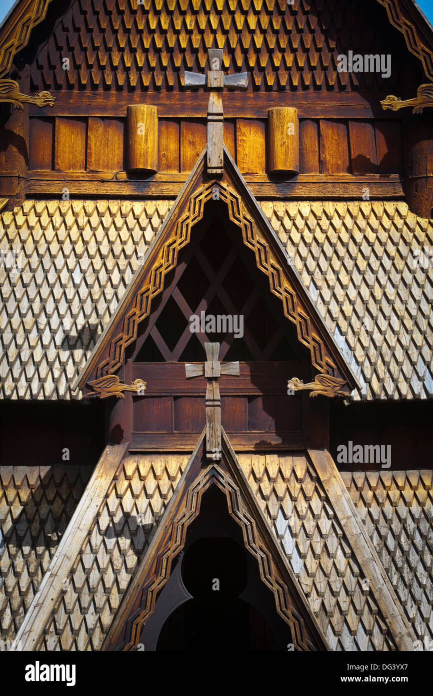 Gol Stave Church, Norwegian Folk Museum, Bygdoy Peninsula, Oslo, Norway, Scandinavia, Europe - Stock Image