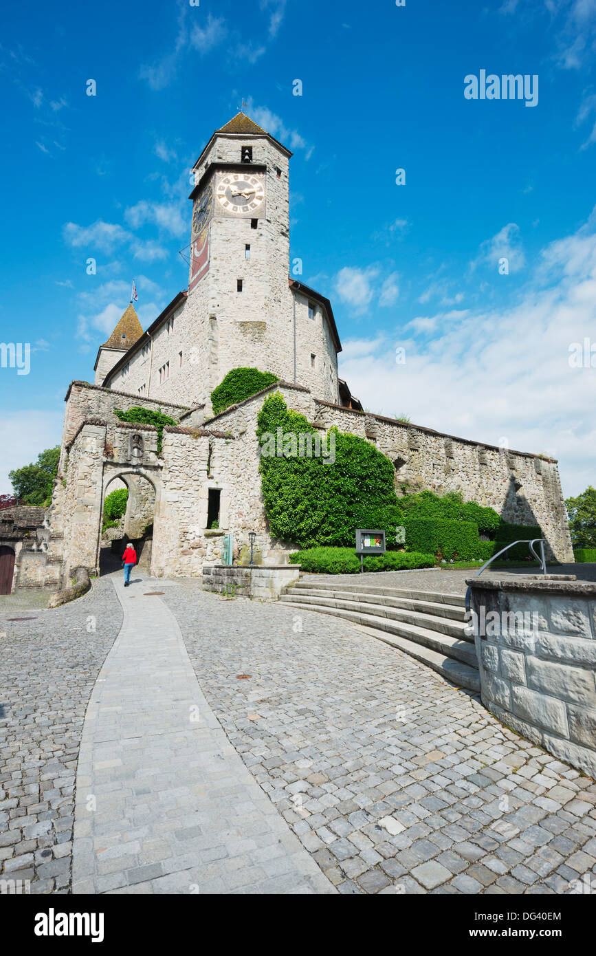 Rapperswil Jona, 13th century castle, Switzerland, Europe - Stock Image