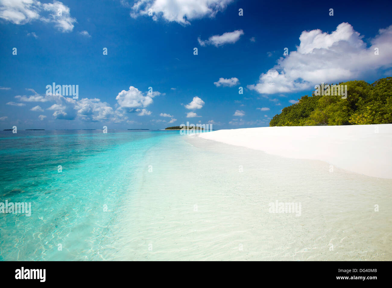 Tropical beach, Baa Atoll, Maldives, Indian Ocean, Asia - Stock Image