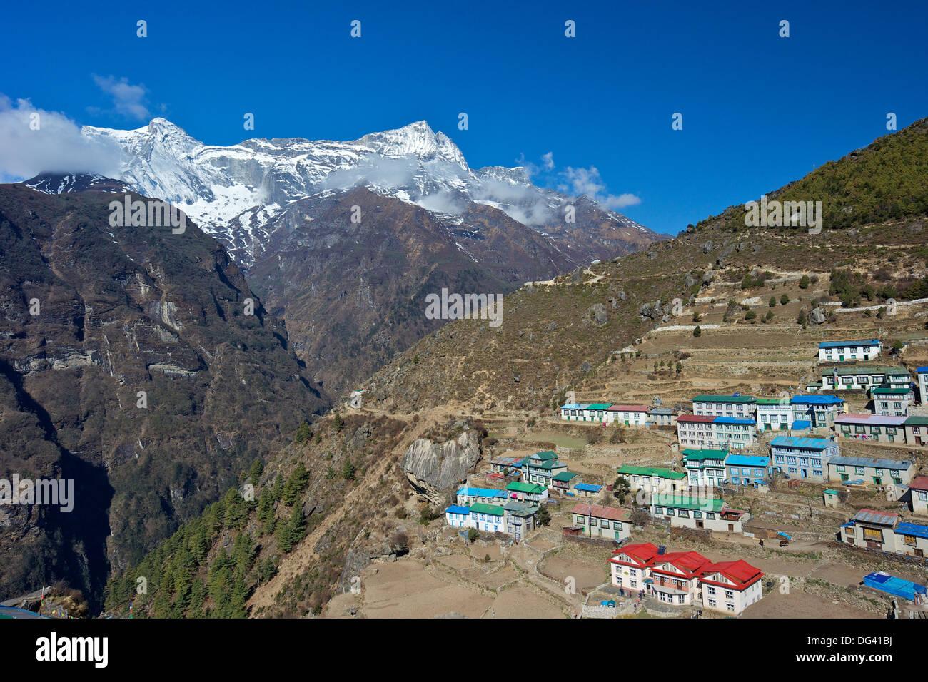 Namche Bazaar, Nepal, Himalayas, Asia - Stock Image