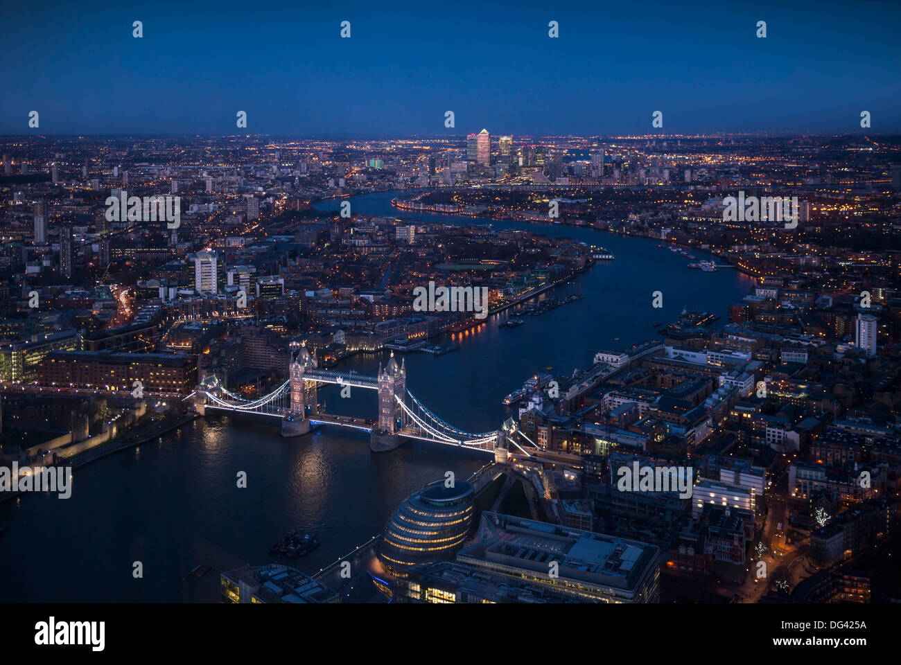 View from The Shard, London, England, United Kingdom, Europe Stock Photo