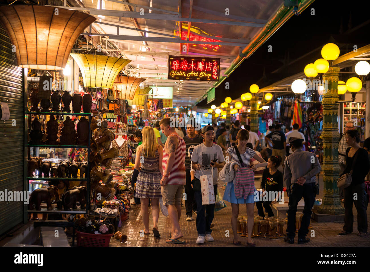 Night market, Siem Reap City, Cambodia, Indochina, Southeast Asia, Asia - Stock Image