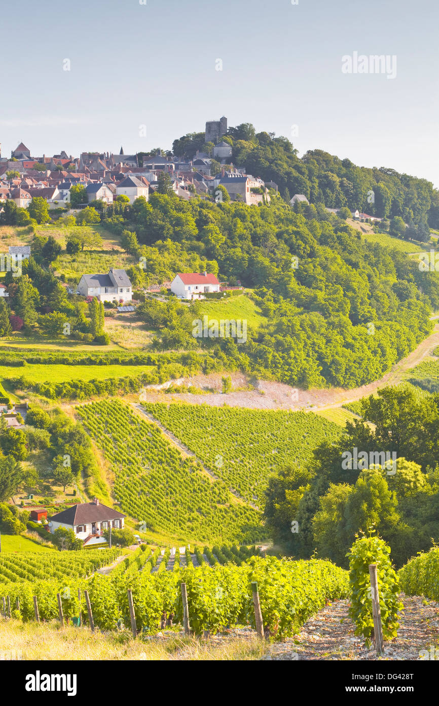 The vineyards of Sancerre in the Loire Valley, Cher, Centre, France, Europe - Stock Image