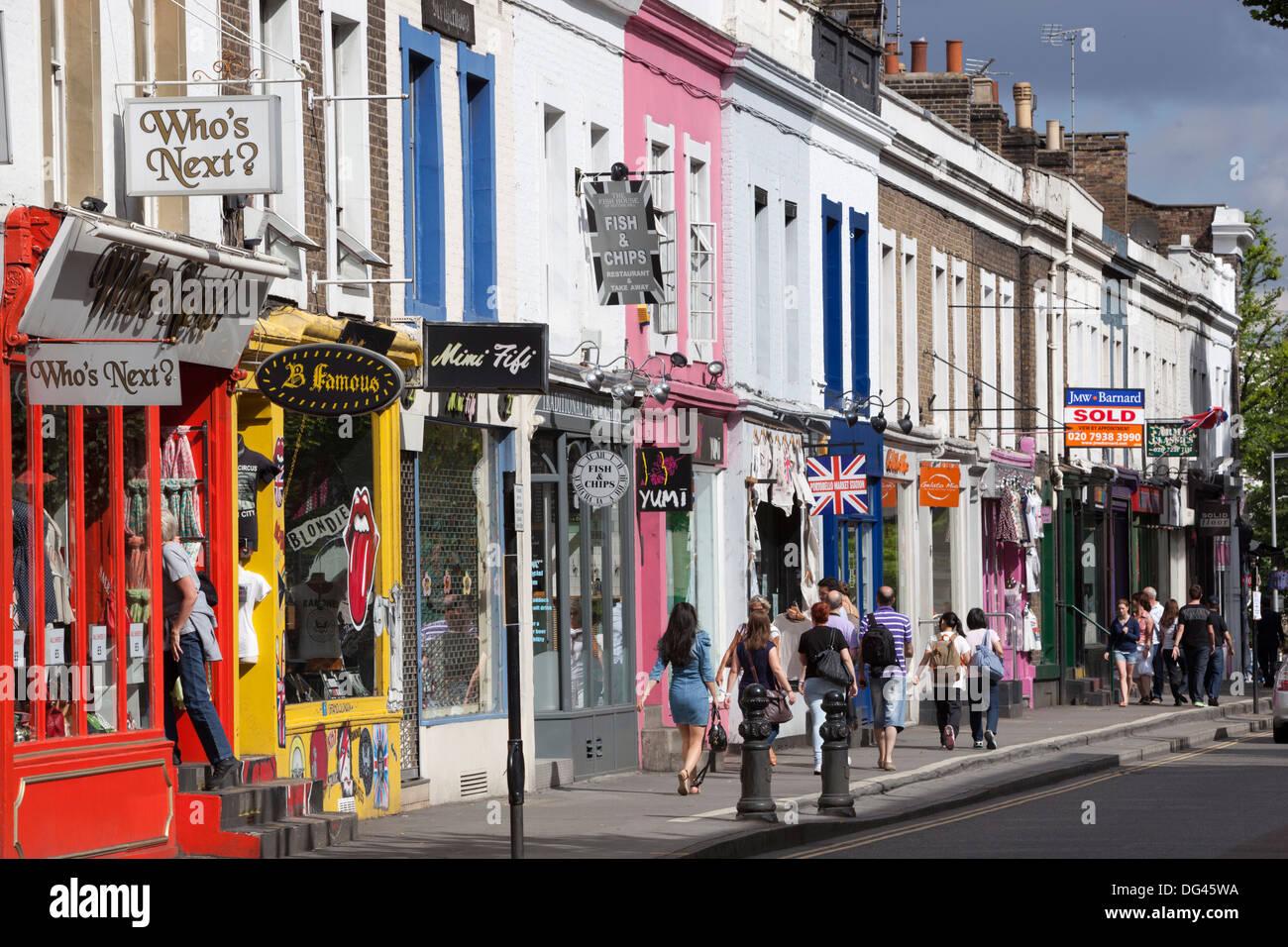 Trendy shops, Pembridge Road, Notting Hill, London, England, United Kingdom, Europe - Stock Image