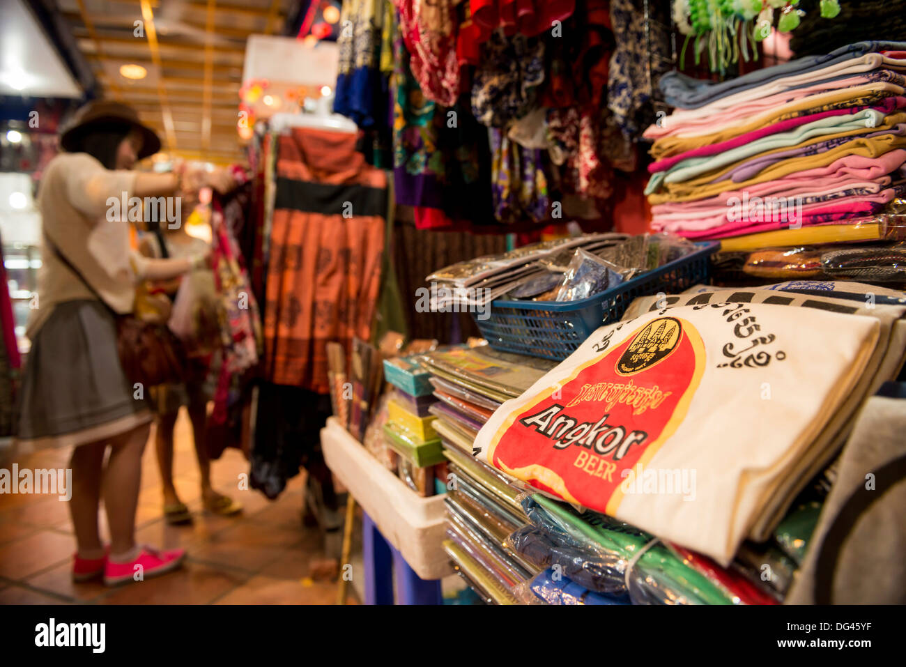 Nightmarket, Siem Reap City, Cambodia, Indochina, Southeast Asia, Asia - Stock Image