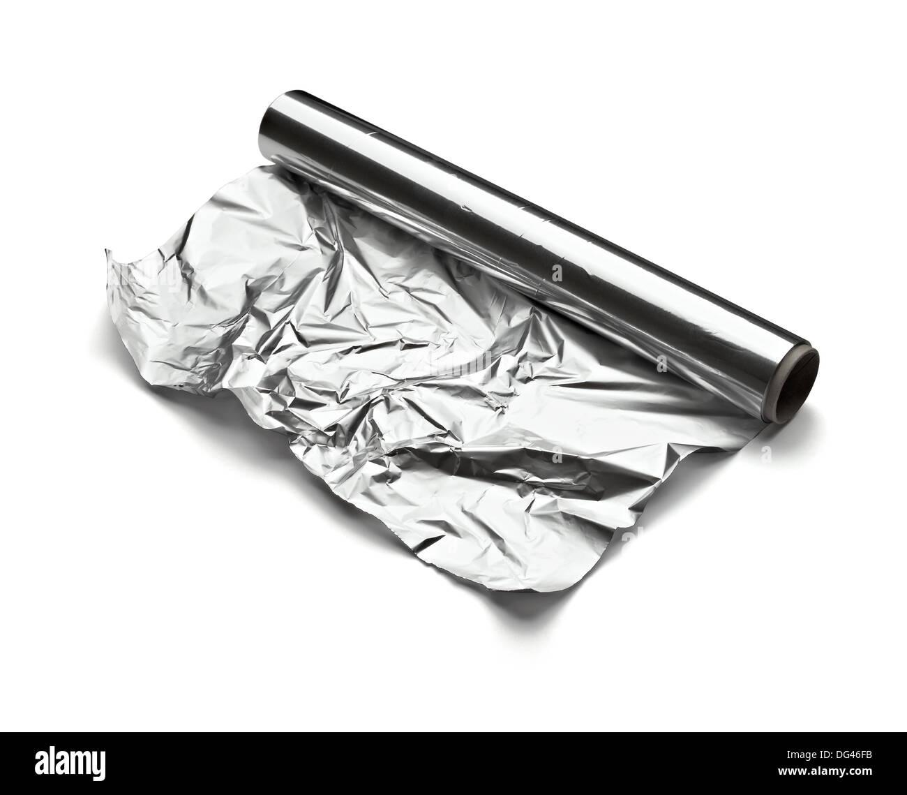 aluminum foil - Stock Image