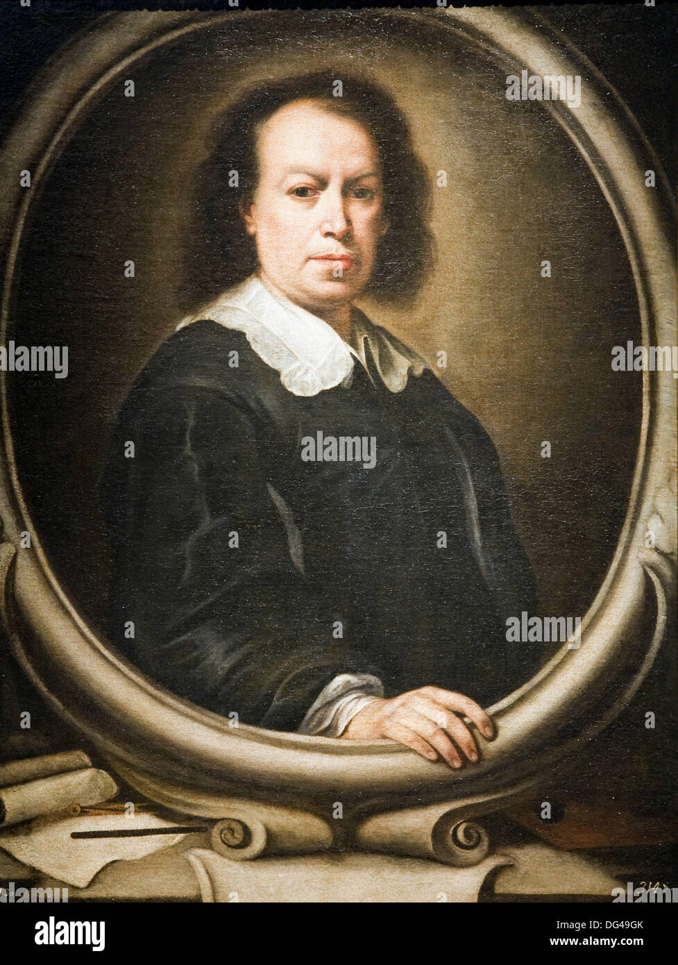 Copy of Murillo´s selfportrait by Alonso Miguel Tovar 18th century, Fine Arts Museum, Seville, Spain  The original Murillo´s - Stock Image