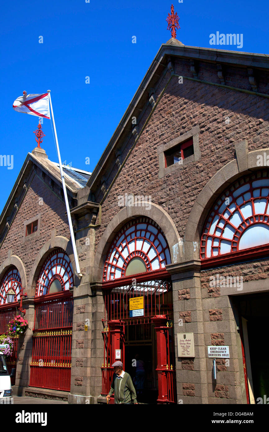 Central Market, St. Helier, Jersey, Channel Islands, Europe - Stock Image