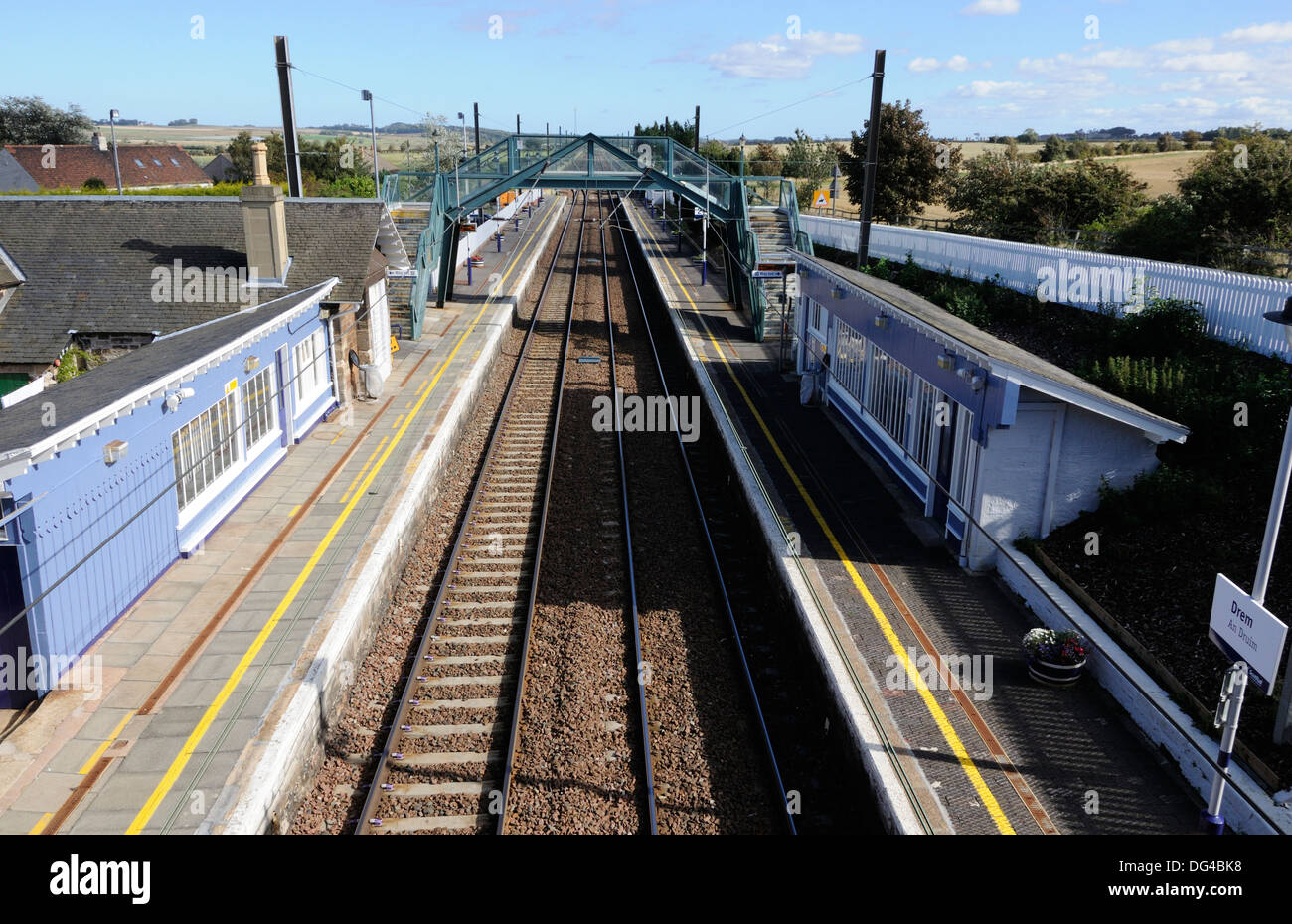 Drem railway station, East Lothian, Scotland - Stock Image
