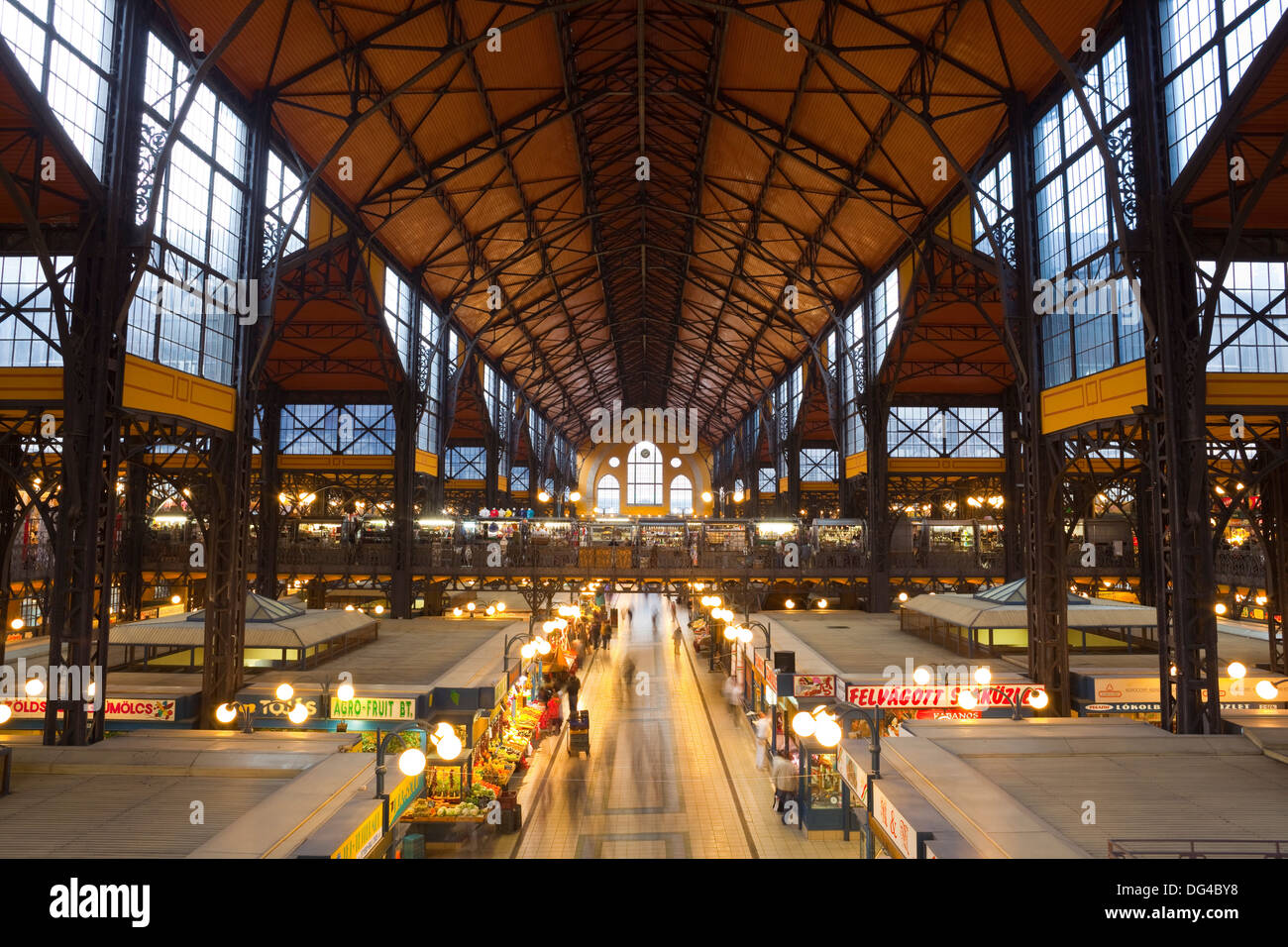 Central Markets, Budapest, Hungary, Europe - Stock Image