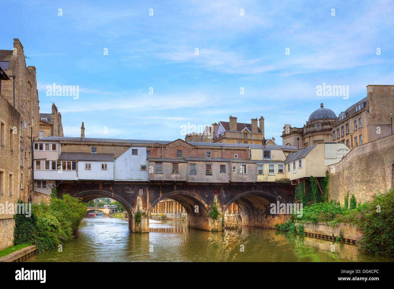 Pulteney Bridge, Bath, Somerset, England, United Kingdom - Stock Image