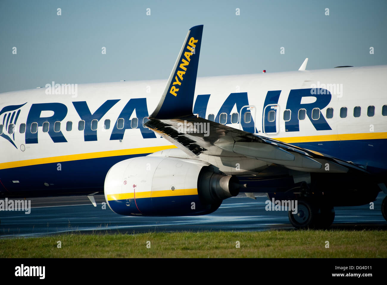 Ryanair Jet Plane on runway - Stock Image